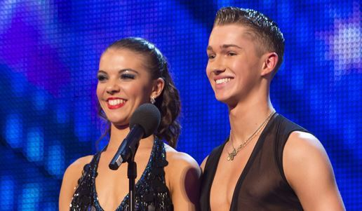 AJ and fellow new dancer Chloe Hewett made it to the semi-finals on Britain's Got talent