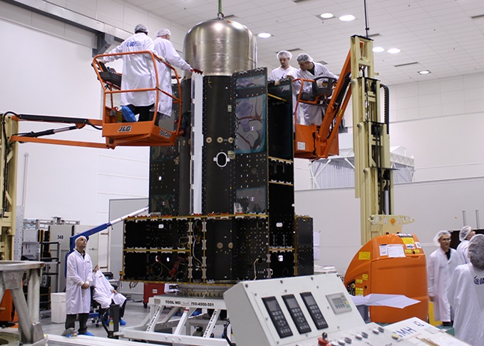 The Israeli made Amos-6 satellite