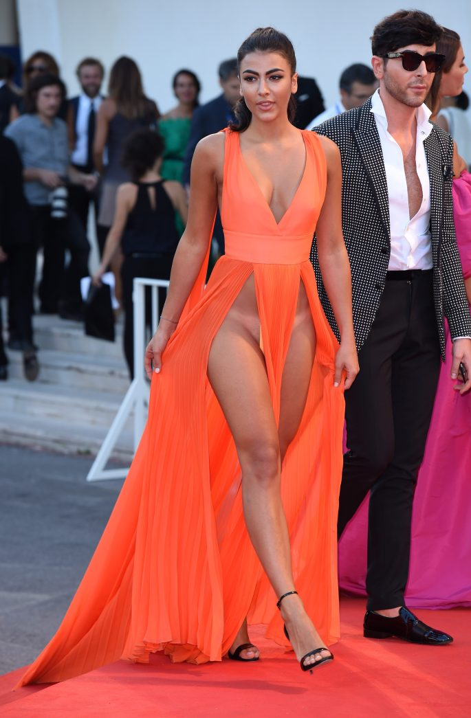 Giulia left very little to the imagination in her revealing dress