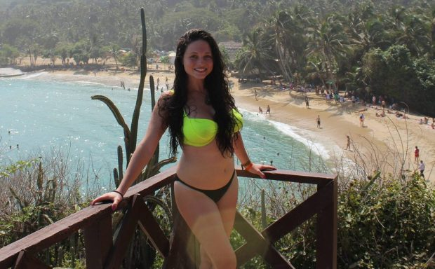 Hannah Gavios, 23, has described the horrific moment she broke her back in a 150ft fall down a cliff while fleeing a sex attacker in Thailand