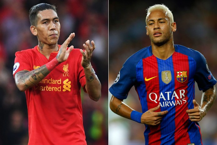 Image result for firmino and neymar