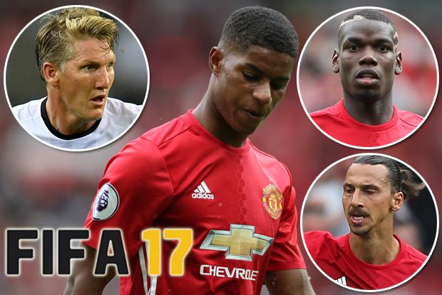 Manchester United Fifa 17 Ratings Marcus Rashford Fails