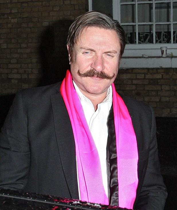 Musician Simon Le Bon sports an impressive curly tache for Movember in 2013