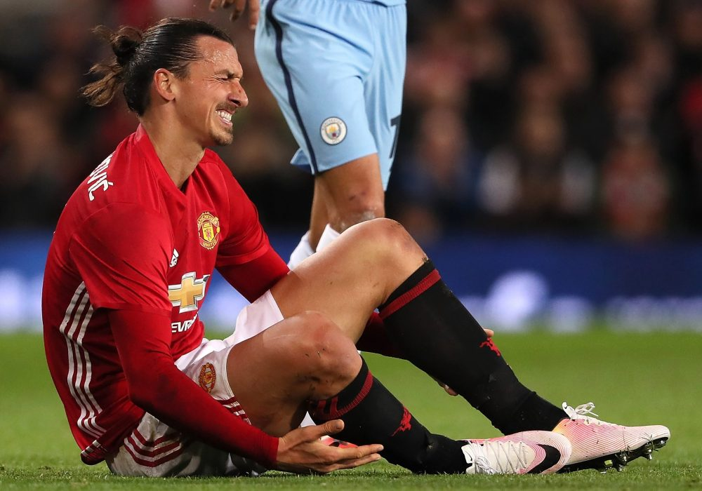 Ibra was so frustrated with his first half performance that he switched boots