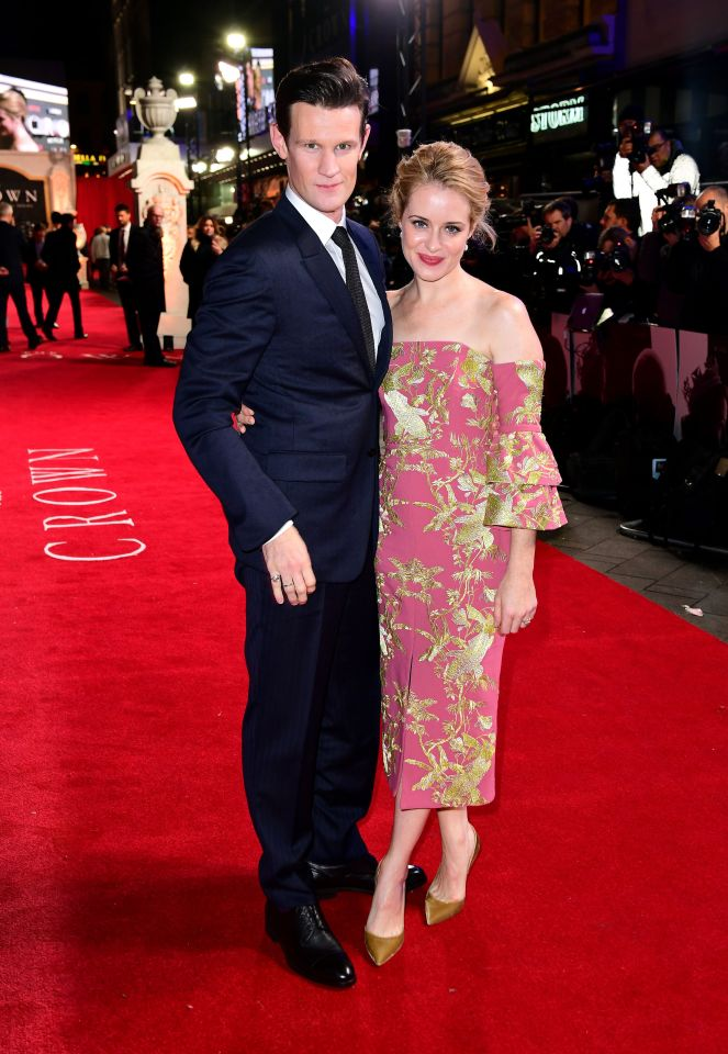 Claire and her co-star Matt Smith who plays Prince Phillip in The Crown