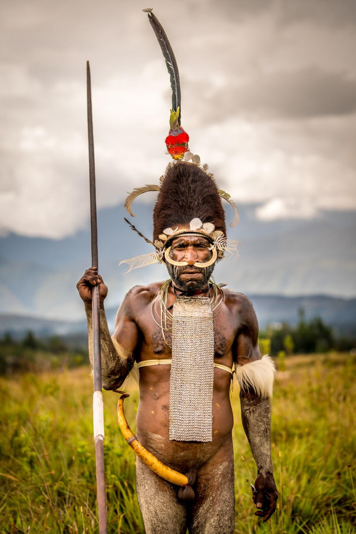 Dani memiliki reputasi menakutkan sebagai pejuang di antara suku-suku lain di Western New Guinea, Indonesia