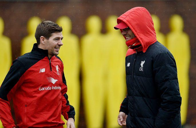 Jurgen Klopp claimed the door is always open at Liverpool for Steven Gerrard