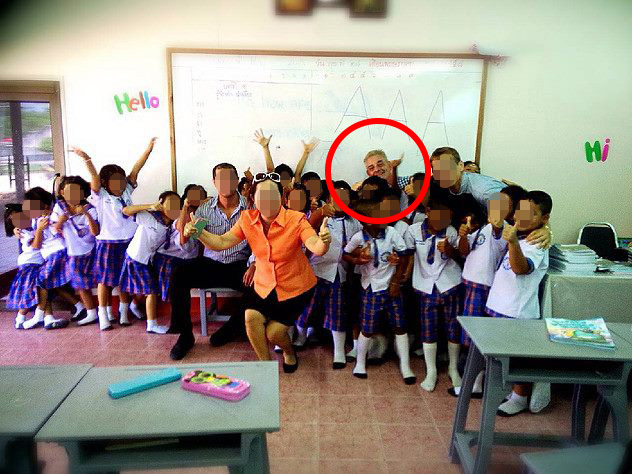 The paedophile has had a string of teaching jobs in Thai schools