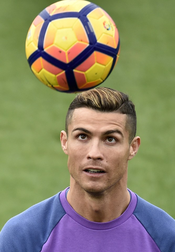 Cristiano Ronaldo Real Madrid Star Shows Off New Gold Dye Hair At