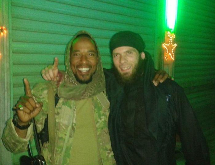 'Lionheart' Mario with fellow German ISIS terrorist Denis Cuspert