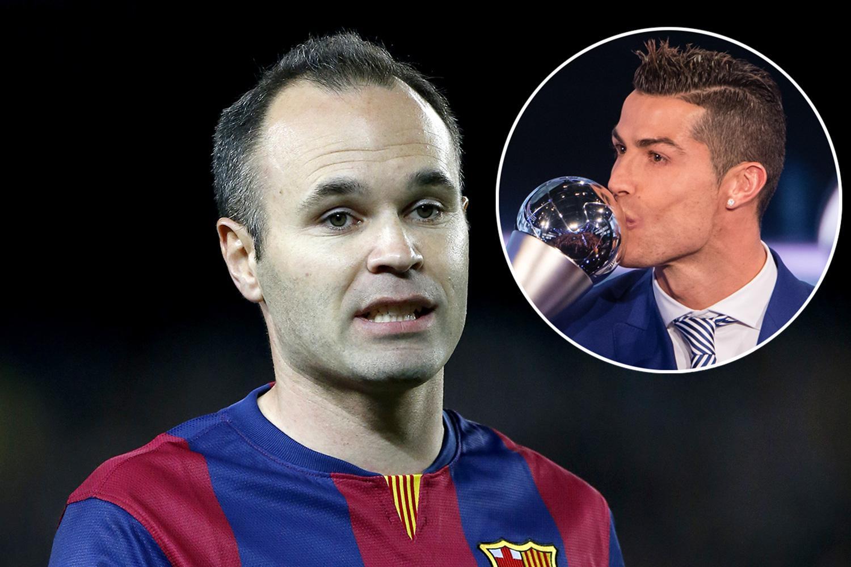 Barcelona s Andres Iniesta apologises to Cristiano Ronaldo and
