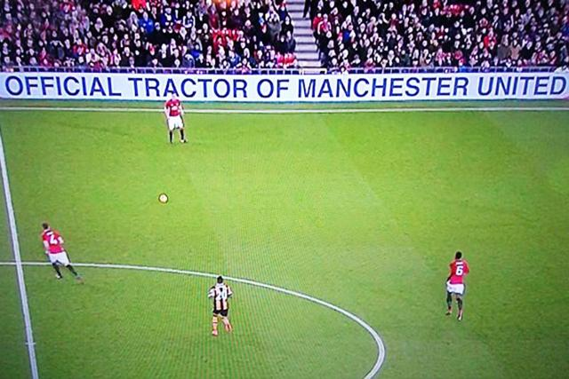 The banner at Old Trafford