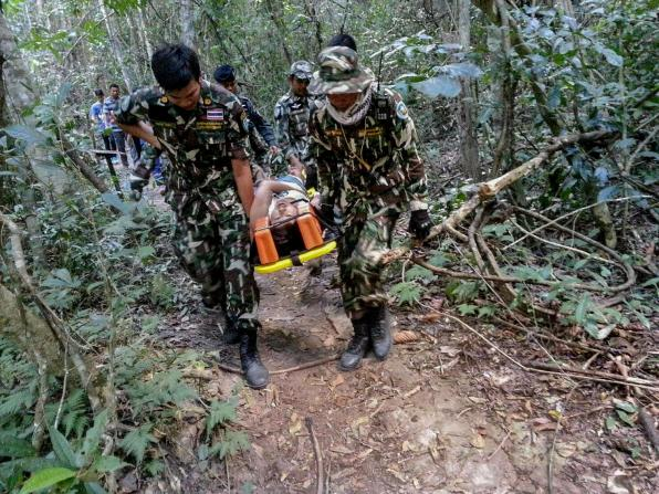 Benetulier was bitten by a crocodile inside the Thai national park as she tried to get close to the fearsome animal to take a selfie, reportedly
