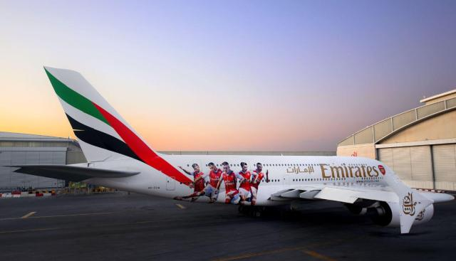The outside of Arsenal's new aircraft