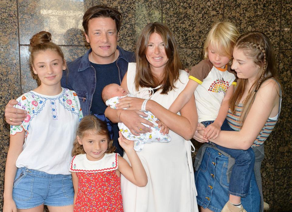 Jamie Oliver and his family