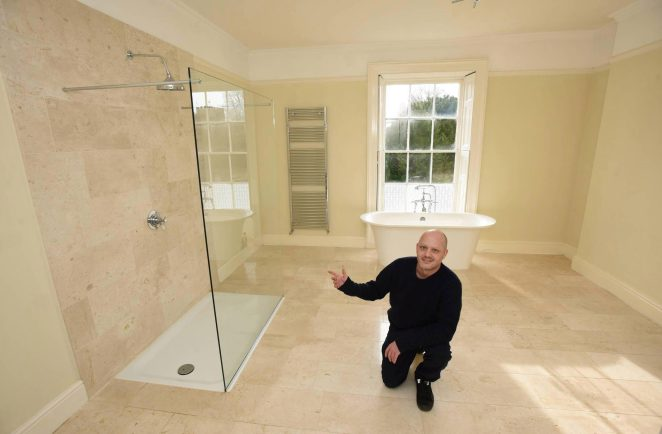 Melling Manor in Lancashire has also had a new family bathroom put in