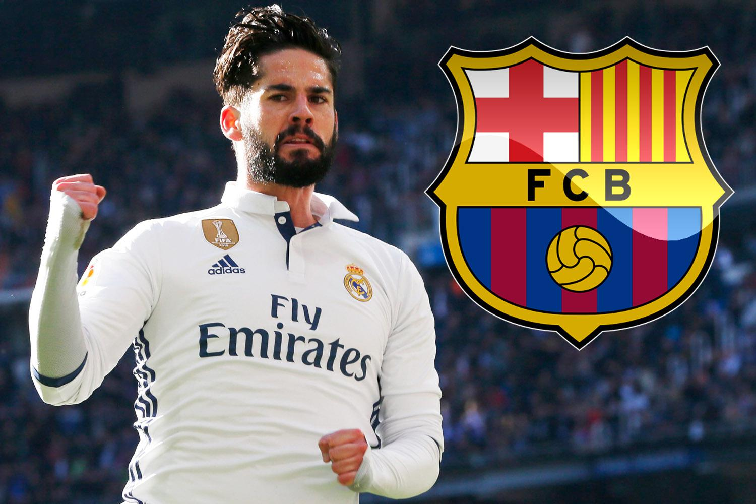Barca considering shock move for Isco on free transfer when Real