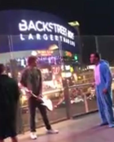 shocking moment guitarist is