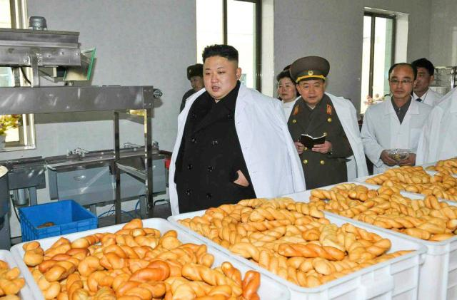 When Kim Jong-un is not inspecting his rockets he'll be found touring catering plants