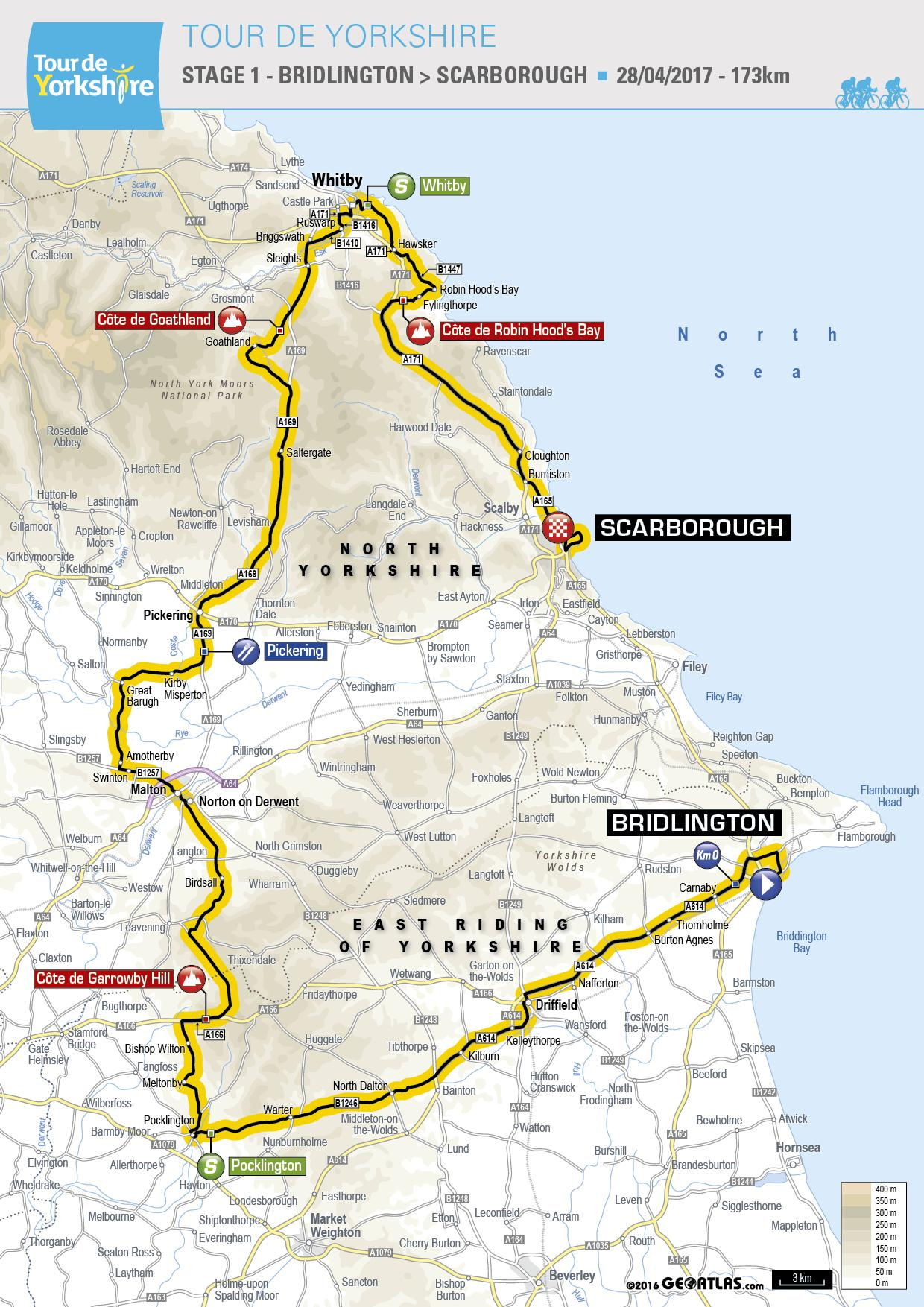 Stage 1 of the Tour de Yorkshire 2017