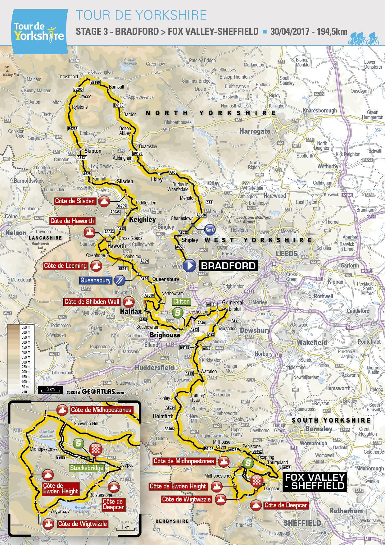 Stage 3 of the Tour de Yorkshire 2017