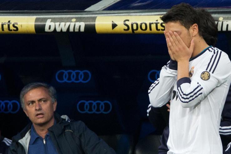 Image result for mourinho ozil clash