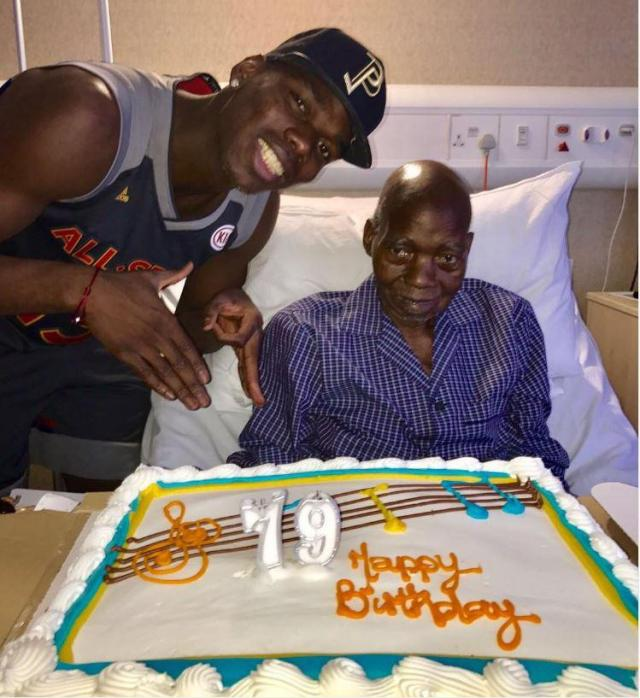 Paul Pogba posted a picture of him and his father in March