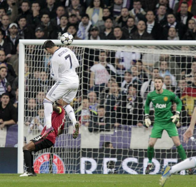 Cristiano Ronaldo can leap higher than the average NBA player to win header