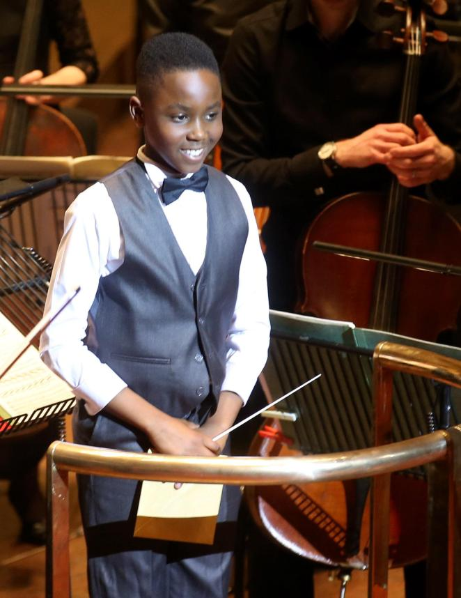 The 11-year-old school boy also plays the violin, drums, piano, guitar and viola