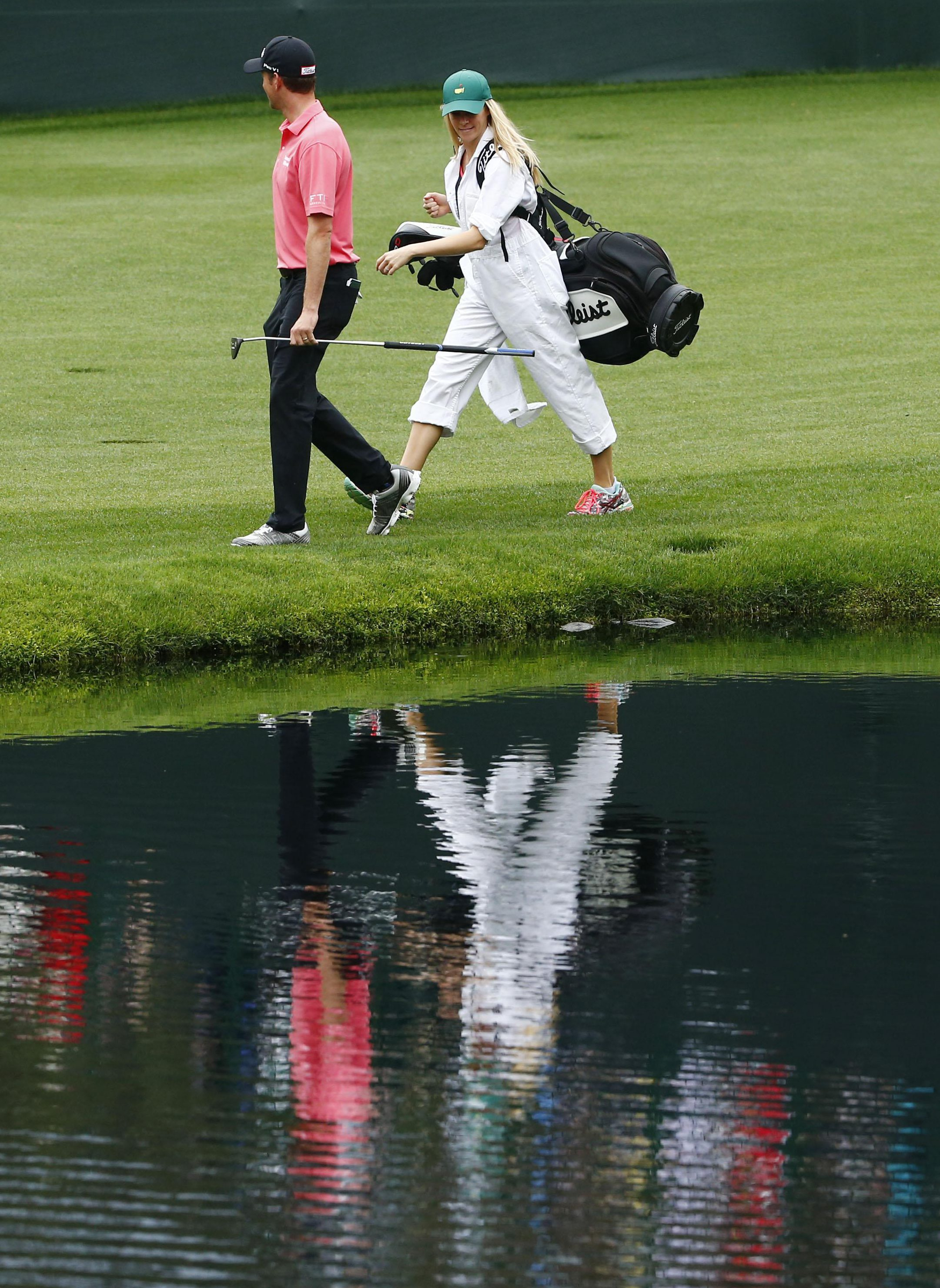 Webb and Dowd Simpson avoid the hazards in the run-up to The Masters