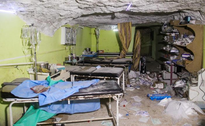 Shocking images show the destruction at a hospital in Khan Sheikhun, Idlib, following the attack