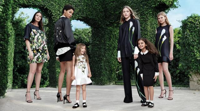 "The collection is up on the Victoria Beckham website but many pieces are labelled ""out of stock"""