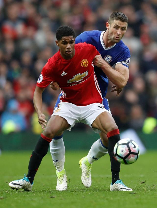 Marcus Rashford led the line superbly for United against Chelsea on Sunday