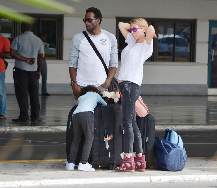 Ugo Ehiogu with his wife Gemma and son who was by his bedside following his cardiac arrest