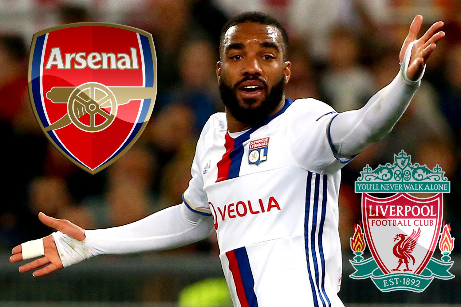 Alexandre Lacazette Arsenal and Liverpool transfer tar could