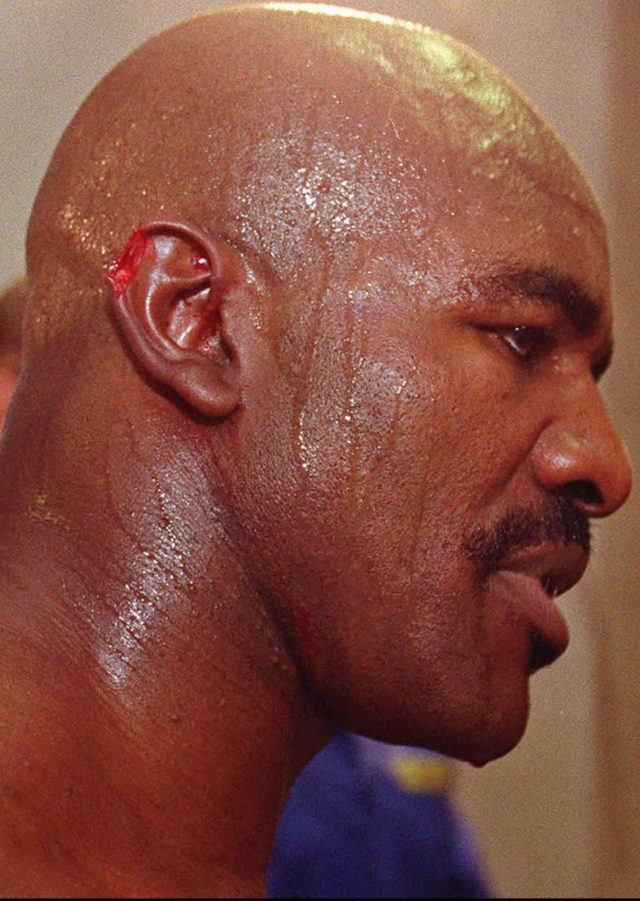 Mike Tyson reveals he gave Evander Holyfield his ear back after biting it  off in legendary fight