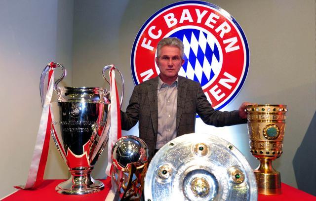 Jupp Heynckes shows off Champions League, Bundesliga and German Cup