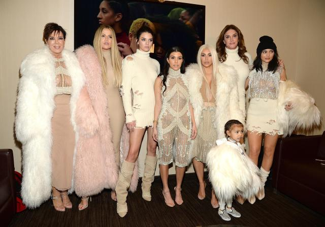 Caitlyn with ex-wife Kris Jenner, daughters Kendall and Kylie and step daughters Kim, Kourtney and Khloe Kardashian