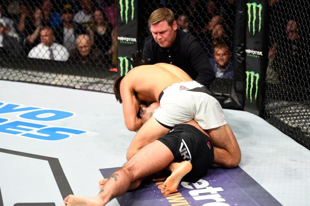 CM Punk suffered a first round defeat to Mickey Gall on his UFC debut