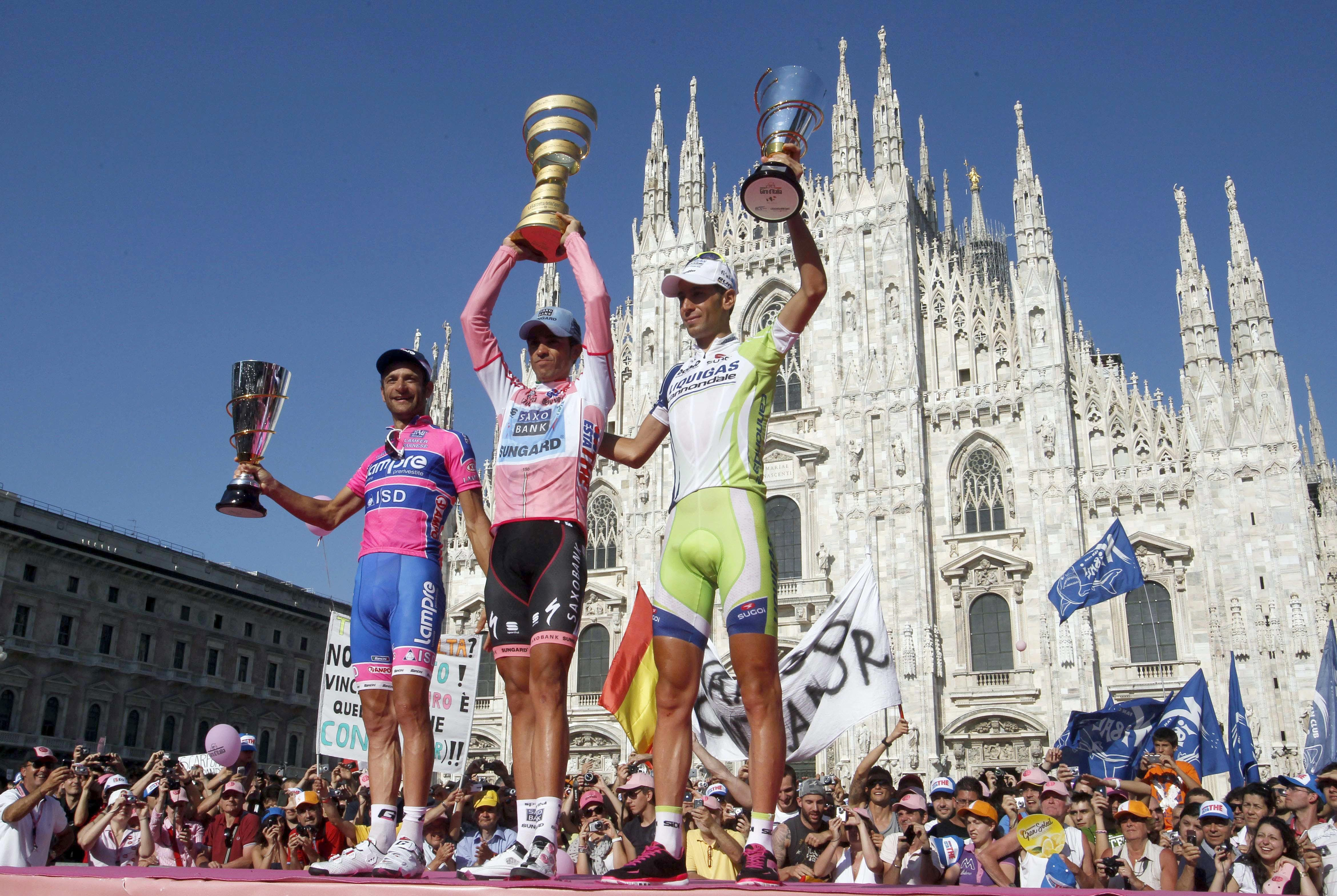 Riders now compete from all over the world in the famous race that takes in 2,200 miles of Italian countryside