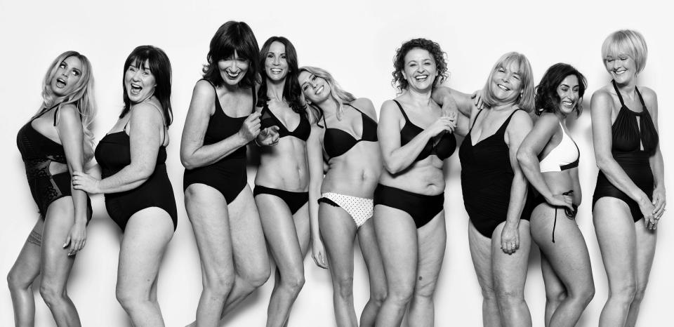 Nine Loose Women panellists have stripped off for a Body Stories campaign