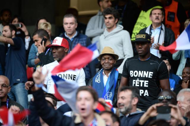 Mathias and Florentin Pogba stood alongside their father at the Euros