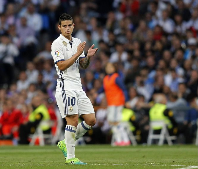 Image result for James Rodriguez sevilla applause