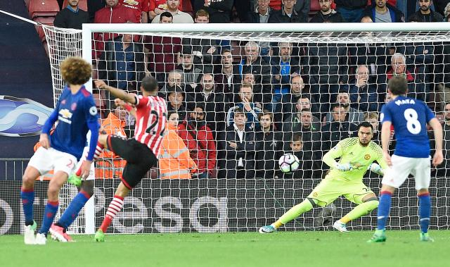 Sergio Romero was the star of the show for United at Southampton tonight