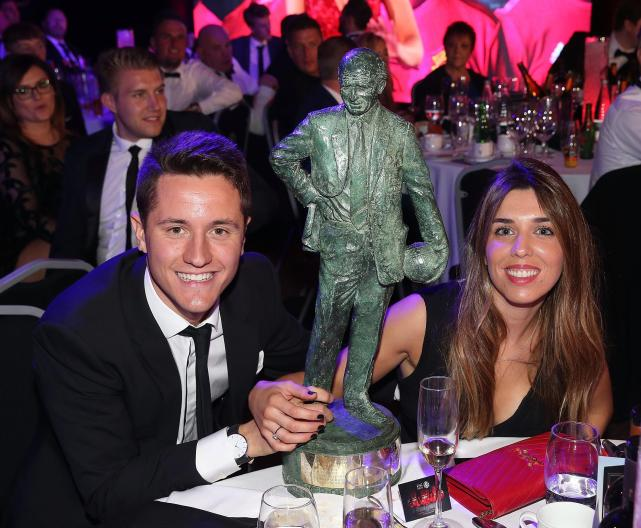 Ander Herrera won player of the year at Manchester United's awards night