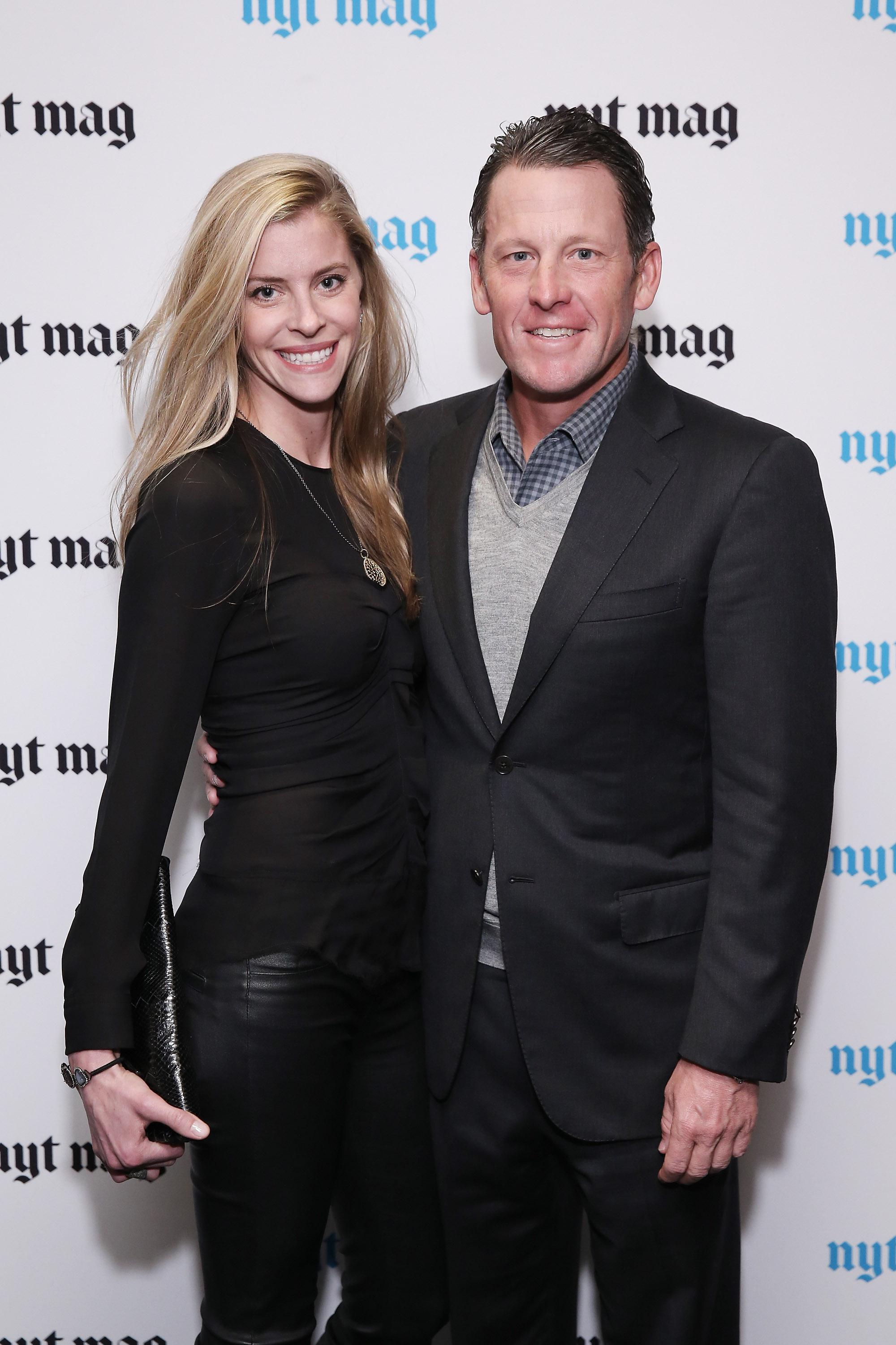 Hansen and Armstrong at a New York Times event in 2015