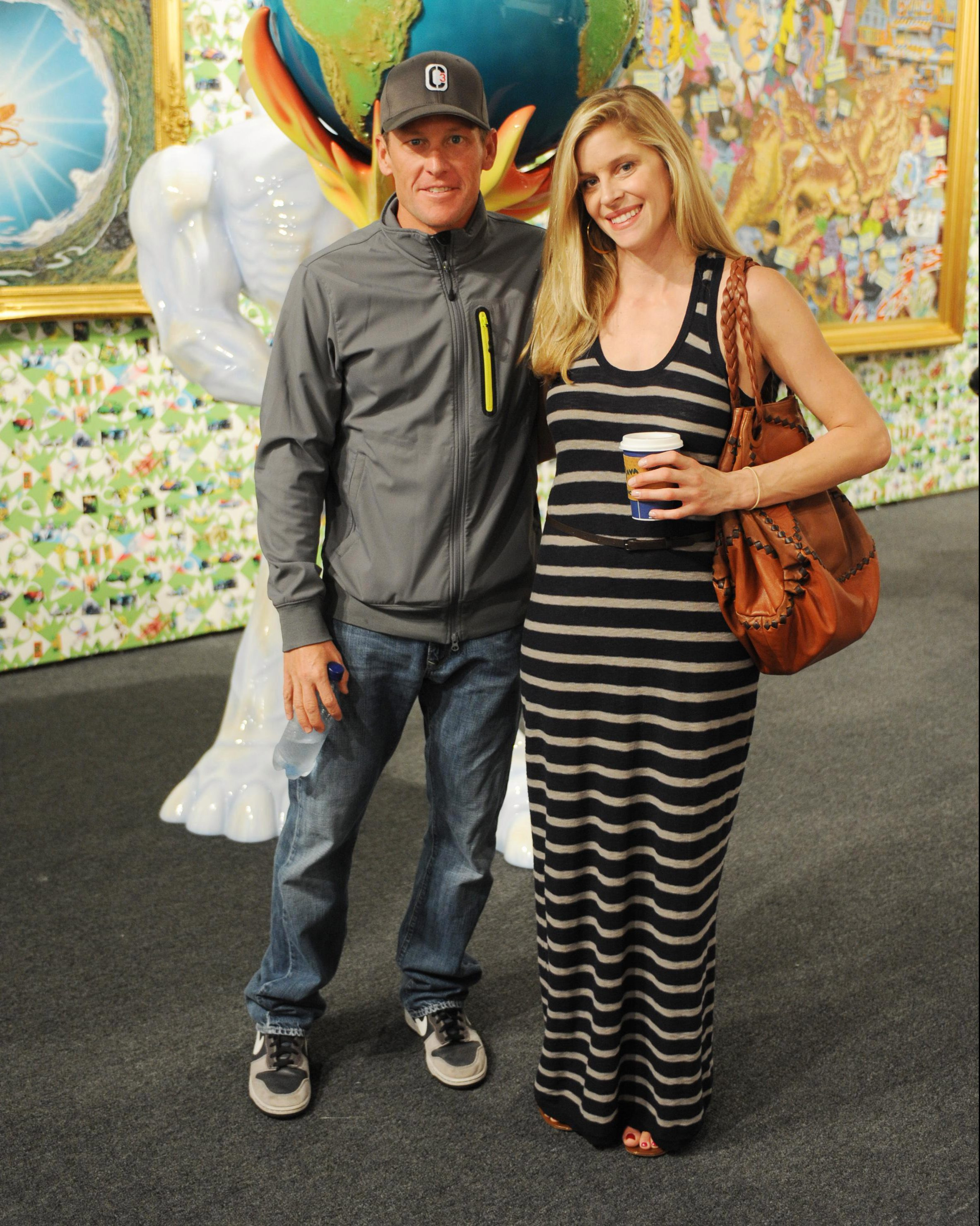 Armstrong and Anna Hansen are sighted at Art Basel Miami Beach in 2010