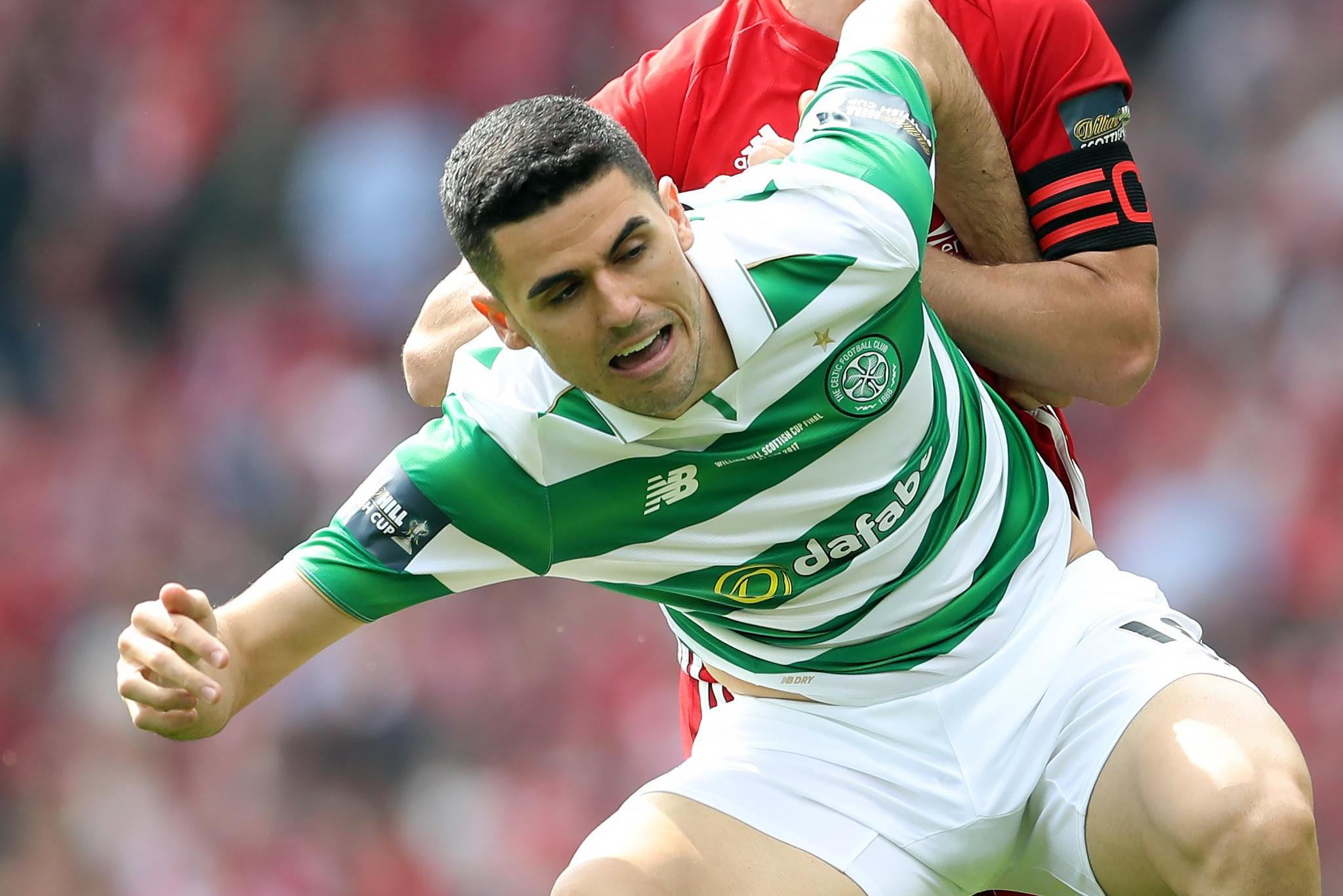 Celtic 2 Aberdeen 1: Tom Rogic scores injury-time winner as Brendan Rodgers' side complete the treble
