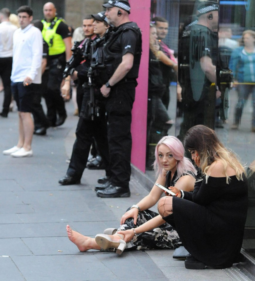 Booze-fuelled Revellers Pose Smiling Selfies With
