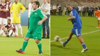 Image result for Soccer legends put boots back on to promote fairer game